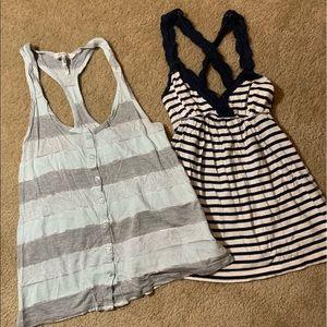 2 girls tank tops like new Kirra - Abercrombie